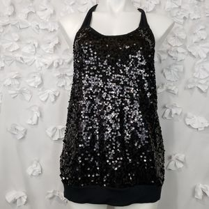Express Sequence Front Racerback Tank Top Size S
